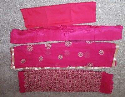 Pink indian suit material full set