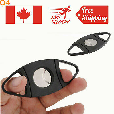 Stainless Steel Pocket Cigar Cutter Double Blades Knife Scissors Tobacco Gift