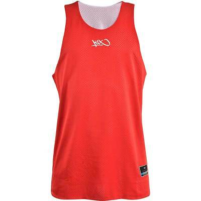K1X Reversible Practice Basketball Jersey Red White