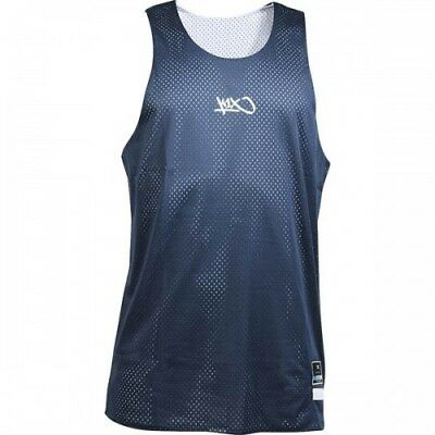 K1X Reversible Practice Basketball Jersey Steel Navy White