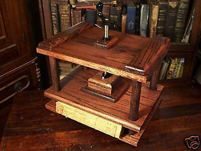 Bookbinding Press Handmade Red Oak Book Binding Nipping Press Scrapbooking