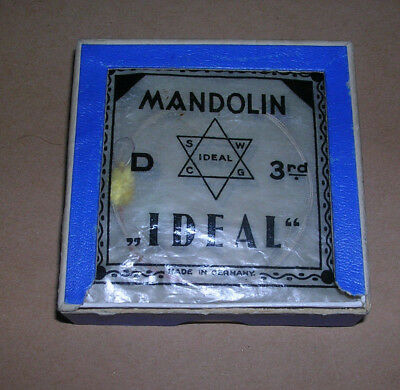 Vintage Pre-War IDEAL Mandolin String Box + Strings  Germany Case Candy Display