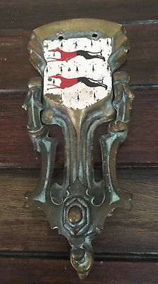 Cast Brass Door Knocker Art Deco Gothic Design c1930 21cm Long Very Good Conditn