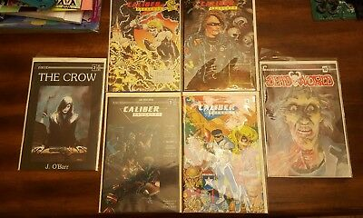 Caliber Presents 1-4, The Crow Issue #2, DeadWorld Issue #1_NM. Bagged & Boards
