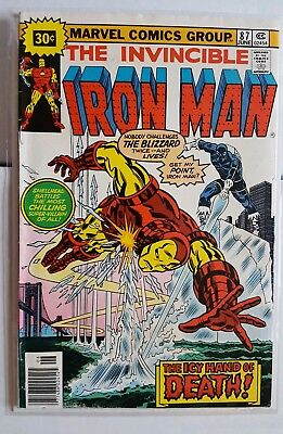 Iron Man #87 Bronze Age 30 Cent Variant Test Cover - 1st Blizzard FN-