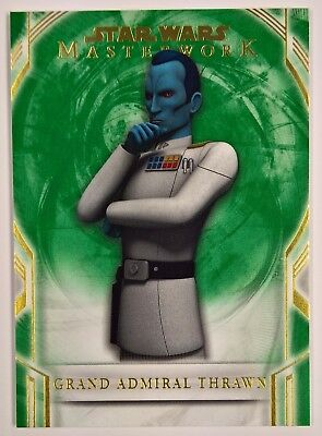 2019 Topps Living Grand Admiral Thrawn #9 A New Hope Star Wars 1977 Design PS