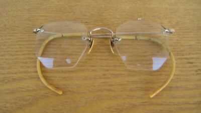 Antique 1/10 12 Kt GOLD Fill Mens Eye Glasses? reading Great Condition Not/Scrap