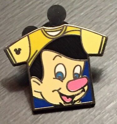 Pinocchio Tee T-Shirt Collection DLR 2011 Hidden Mickey Disney Pin #85643