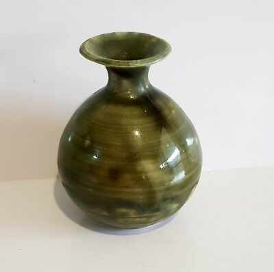 Vintage Australian Studio Pottery Vase With Makers Mark.