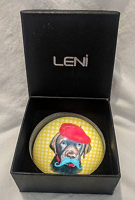 Leni Paperweight Dog Wearing A Beret. Still With Original Box