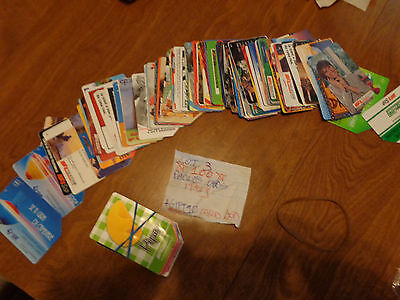Lot 3 Phone Cards Telecom Sip 100 Different Italy Italia Rare Collection + Gift