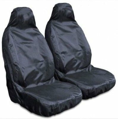 PEUGEOT BIPPER 2008 ON - Heavy Duty Black Waterproof Car Seat Covers 2 Fronts