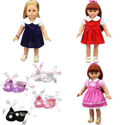 """Handmade Doll Clothes Dress Shoes Accessory for 18""""Inch American Girl NEW"""