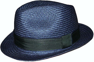 80db3804dec92 PAUL SMITH BY Christys Low Crown Trilby Navy Wool Hat Sz-M   L Made ...