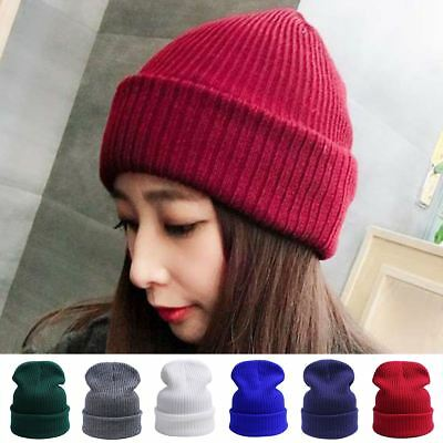 4d8be3e7af0155 Men Women Beanie Winter Warm Hat Knitted Ski Cap Outside Fall Hats Unisex  Solid