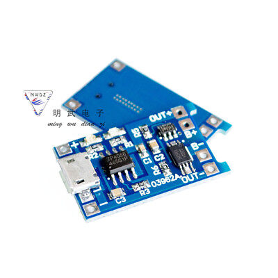 3PCS TP4056 5V 1A USB 18650 Lithium Battery Charger Board Protection Module