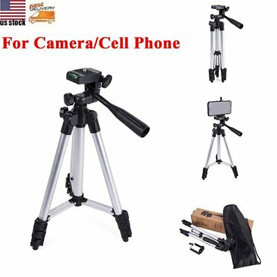 Professional Travel DSLR Camera Tripod Smart Phone Stand for iPhone Samsung ZTE