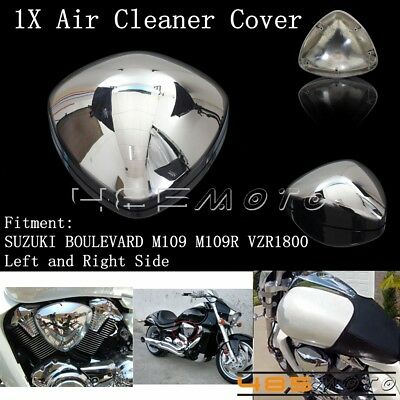 1X Left & Right Air Cleaner Filter Cover For Suzuki BOULEVARD M109 M109R VZR1800