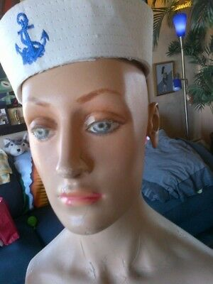 VINTAGE 1940's MANNEQUIN HEAD AND TORSO STORE DISPLAY - BEAUTIFUL!