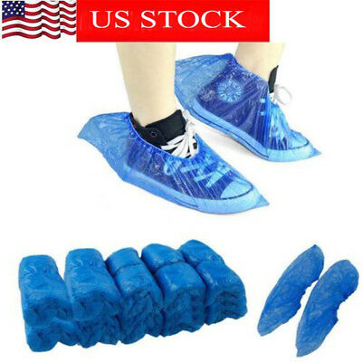 50PCS Waterproof Boot Covers Plastic Disposable Shoe Covers Overshoes Medical