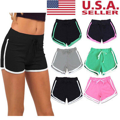 Women Ladies Sports Shorts Casual Beach Summer Running Gym Yoga Hot Pants US