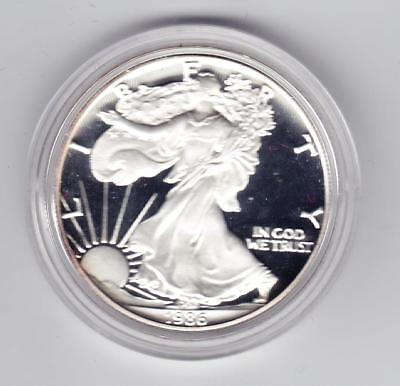 1986 S SILVER PROOFAMERICAN EAGLE DOLLAR No Reserve! WITH BOX C.O.A.