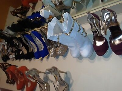 Lot of 11 pair Womens High Heels Pumps Stilettos Boots Guess Preowned Guess etc.