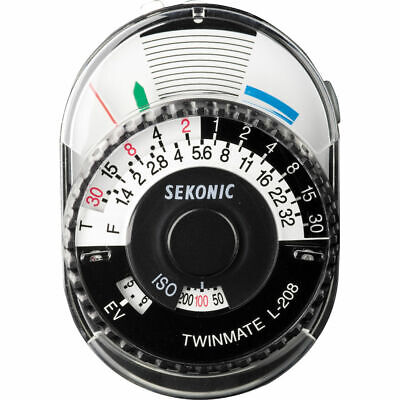 New 100% Genuine Sekonic L-208 Twin Mate Analog Incident & Reflected Light Meter