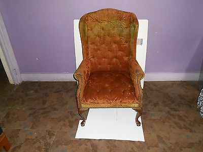 Vintage Wing Back Chair Probably 1970's