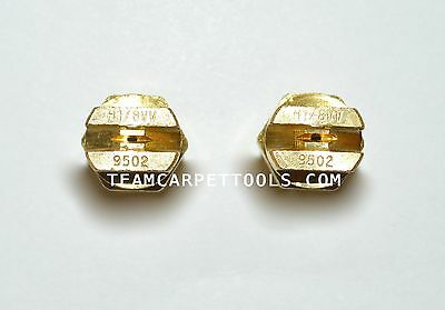 """Carpet Cleaning Wand Replacement Brass 1/8"""" V-Jets 9502 Vee Jets (2 count)"""