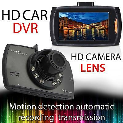 "Car DVR Camera 1080p HD Dash Cam 2.4"" LCD G Sensor Night Vision Battery InBuilt"