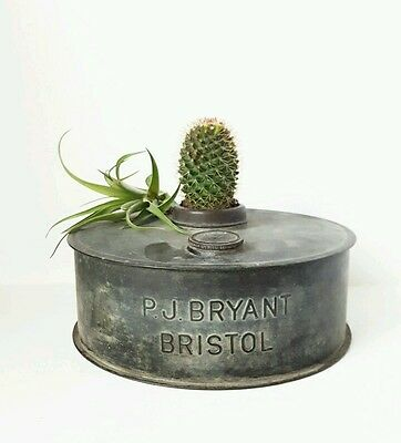 Vintage Antique Collectable PJ BRYANT Bristol copper oil lamp Base industrial