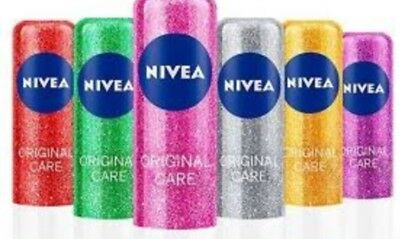 Nivea Lip Balm 3 pack Limited Sparkling Edition 3 x 4.8gm