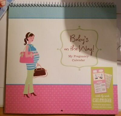 Hallmark Baby's On The Way Pregnancy Week by Week Calendar-Photos & Stickers