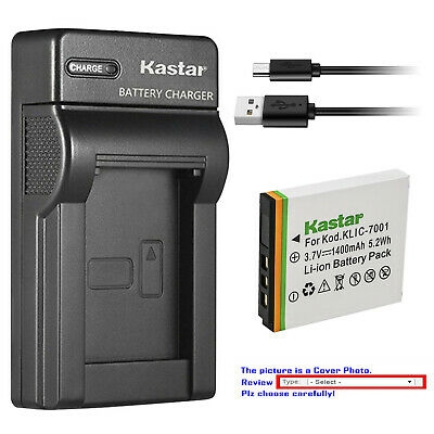Kastar Battery Slim Charger for Kodak KLIC-7001 & Kodak EasyShare M320 Camera