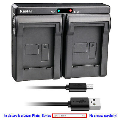 Kastar Battery Dual Charger for KLIC-7001 K7001 & ROLLEI CL200 CL-200 Camera