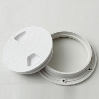 Round Access Hatch Cover Lid Deck Plate Panel Boat / Marine Anti-slip Plastic