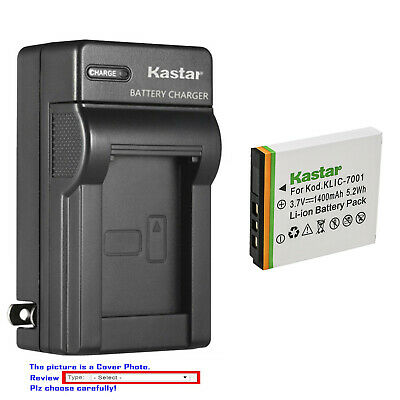 Kastar Battery Wall Charger for Kodak Genuine KLIC-7001 K7001 & Kodak OEM K7700