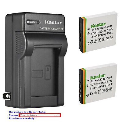 Kastar Battery Wall Charger for Kodak KLIC-7001 & Kodak EasyShare M763 Camera