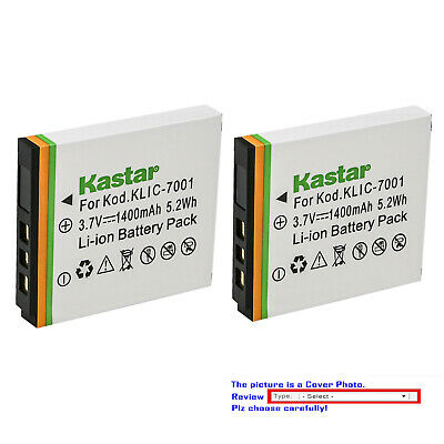 Kastar Replacement Battery for Kodak KLIC-7001 & Kodak EasyShare M340 Camera