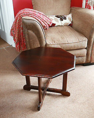 Table Coffee Table  Antique ARTS and CRAFTS Octagonal 19th C Mahogany Oak