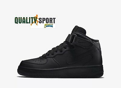 Nike Air Force 1 Mid Nero Scarpe Shoes Ragazzo Donna Sneakers 314195 004