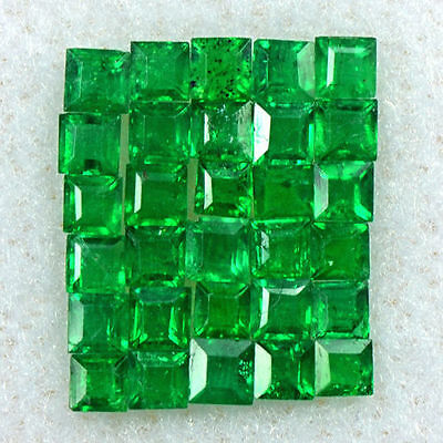 0.94 Cts Natural Fine Emerald Loose Gemstone Rich Green Square Cut Lot Zambia $