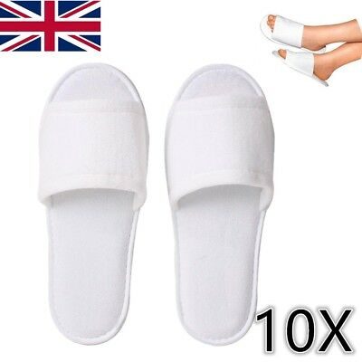 4d4ce0becd6 25 Pairs Spa Hotel Guest Slippers Open Toe Towelling Disposable Terry Style  New