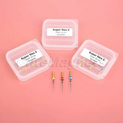 3Pcs Dental Rotary Engine Endodontics Root Canal Super Files II X1-X3 21/25/31mm