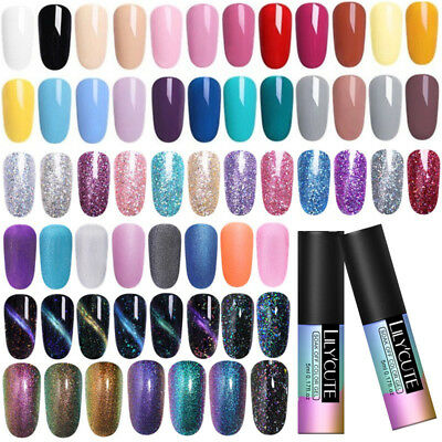 5ml Vernis à Ongles Gel Polish Nail Art UV Base Top Coat Manucure LILYCUTE Décor