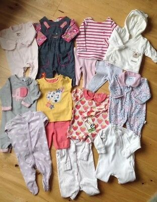 Girls Clothes Bundle 0-3 Months- Joules, White Co, Jojo Maman, Next, Lilly&Sid