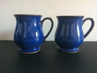 denby imperial blue 2 craftsman mugs excellent used condition