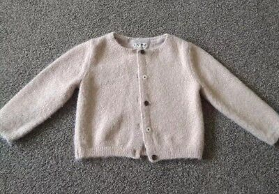 Baby Girls Pink Sparkle Next Cardigan Age 12-18 Months