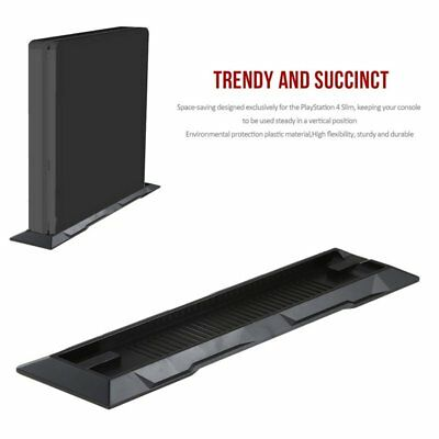 Vertical Stand Dock Foundation Mount Supporter Base Holder for Sony PS4 Slim QW